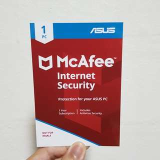 Mcafee antivirus 1 year subscription