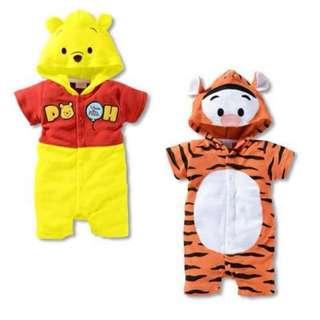 小熊維尼、跳跳虎連身衣 新生兒寶寶連身衣