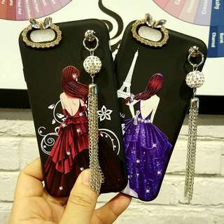 Beauty lady dess swarovski + chain case
