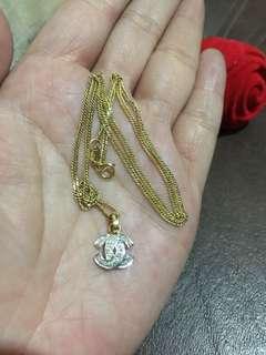 .10 Carat Dia Chanel Pendant 1.3gold