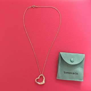 TIFFANY & CO. Open Heart Pendant Necklace