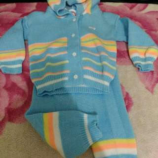 Sweater rainbow baju hangat rajut