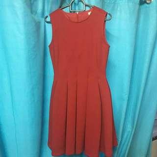 Grand Red Dress Massimo Dutti