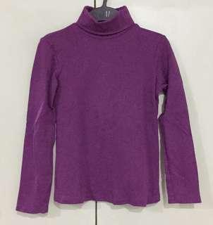 Zara Girls Purple Turtle Neck