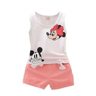 Baby Girl Vest & Shorts Set