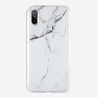 White Marble Case: iPhone 5/5s/SE, 6/6s, 6+/6s+, 7/8, 7+/8+, X
