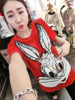 PO-Rabbit shirt - red