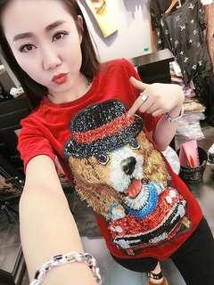 PO-Dog shirt - red