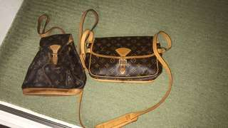 AUTHENTIC LOUIS VUITTON BAGS 2 PIECES and 1 piece of Pouch.