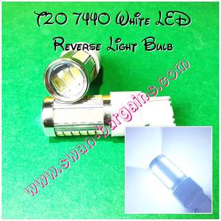 Pure White Super-Bright T20 W21W 7440 5630 33 SMD 12V LED with Projector Lens Light Bulb Reverse Running Signal Turning Lights Replacement