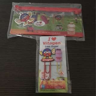 Pencil Stationery Case and Paper Clip (Vitagen)