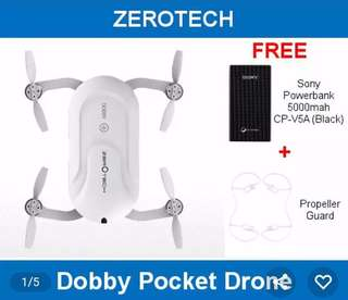 Zerotech Dobby Pocket Drone Bundle Portable Charger