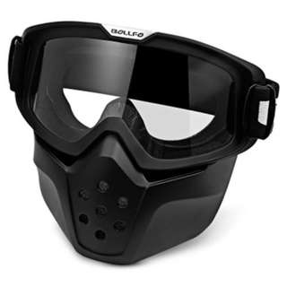 MOTORCYCLE MASK GOGGLES (TRANSPARENT)