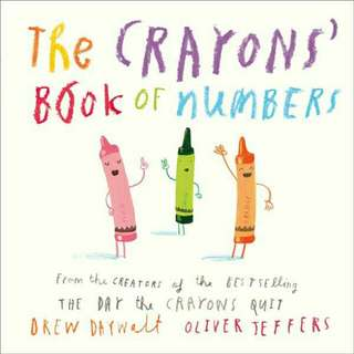 ☺ [ Brand New ] The Crayons' Book of Numbers       By: Drew Daywalt, Oliver Jeffers (Illustrator)  (Board Book) For Ages: 3+ years old
