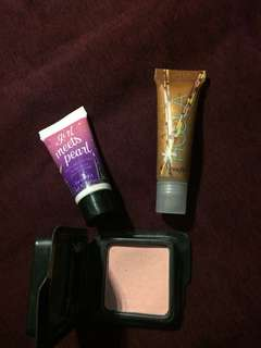 RE-PRICE!! Blush on, lipgloss, highliter cream(take all only 85k!!)