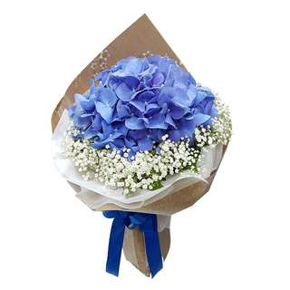 Winter (1 Blue Hydrangea Floral Bouquet)