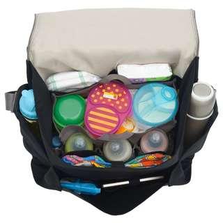 Crosby Baby Bag D'renbellony  (Tas Perlengkapan Bayi, Balita, Tas Diaper, Tas Popok, Tas Bayi Organiser, Tas Perlengkapan Mandi Anak) Black