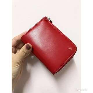 瑞士國鐵 真皮 紅色 零錢包