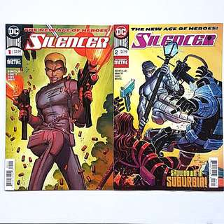 DC Comics The Silencer issue 1 and 2 Near Mint Condition