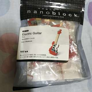 Nano block Red Electric Guitar