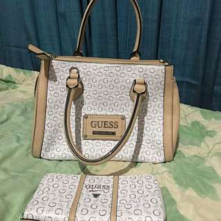 Guess Handbag and Wallet