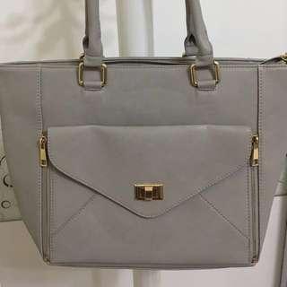 「全新」NET 氣質淺灰色手提包