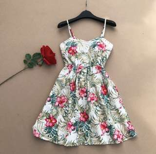 🌷(IS) Sexy Cross Back Floral Sundress