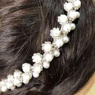 高貴閃石珍珠頭箍、新娘外景、Big day均可
