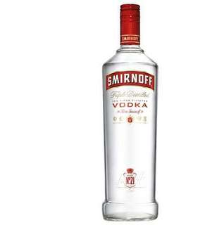 1 litre Vodka (Smirnoff and Absolut)