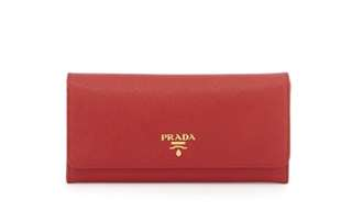 Red Prada plain long wallet