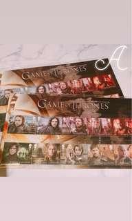 Game of thrones 權力遊戲 郵票