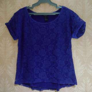 Forever 21 Blue Lace Blouse