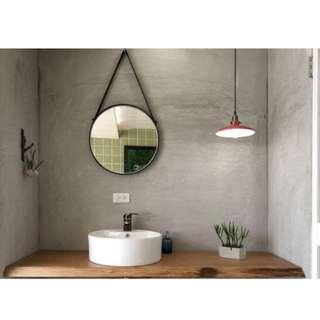 Round Metal-framed Hanging Decorative Mirror