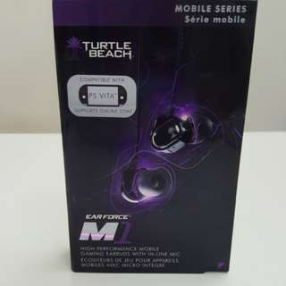 Turtle Beach Ear Force M1 high performance mobile gaming earbuds with mic