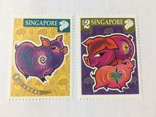 Singapore 2007 year of the boar mnh
