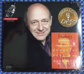 Absolutely natural sounding audiophile hybrid SACD (can play in normal CD player). Brahms Symphony no 2, Budapest Festival Orchestra. Ivan Fischer.