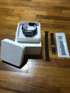 Apple Watch Stainless Steel 42mm with Leather Strap (Gen 1)