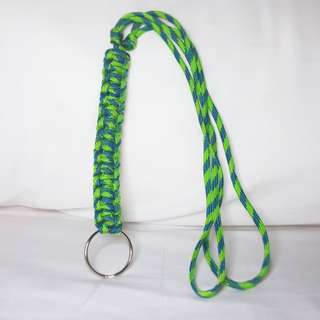 Handmade Paracord Lanyard - Two Tones of Green