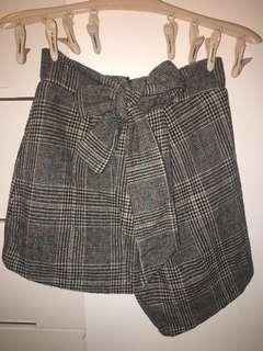 Korean skirt 韓國 格仔 蝴蝶 絨裙 made in korea