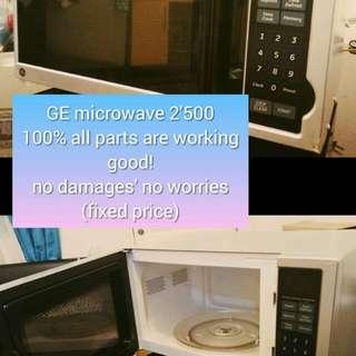GE microwave (black)