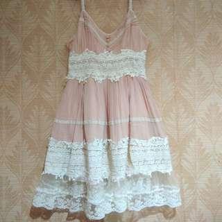 Forever 21 peach dress (so pretty! 😭)