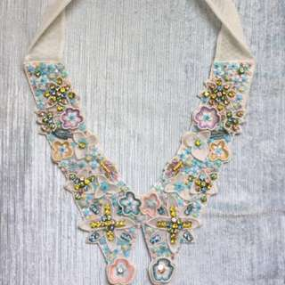 Superneedle floral necklace collar
