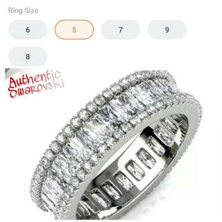 Singapore Authentic Swarovski Ring