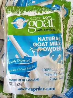 澳洲 caprilac 羊奶粉 1kg  無污染❌無添加劑❌強烈建議老人和生長期去青少年飲用,提高免疫力十分有效‼️富含高乳鈣、高蛋白及多種礦物質,可以健脾養胃 美容養顏💟還含有A2 beta酪蛋白,長期喝可以降低心臟病 糖尿病的發病率,羊奶粉營養是牛奶粉的2倍💨尤其適合牛奶過敏人羣~並且羊奶是最適合人體的營養品。給老人家喝羊奶最好,利於消化