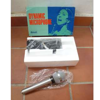 Vintage Densei Dynamic Microphone (Model UD-105) JAPAN  (NEW) [a4]