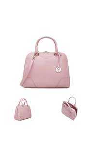 Furla Pink Dolly Leather Satchel Bag NWOT with Receipt