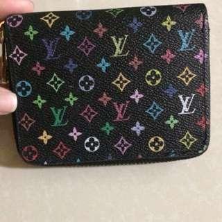 Louis Vuitton multi color zippy wallet