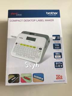 Brother Label Printer - P-touch D400 (comes with warranty till 12/02/2019)