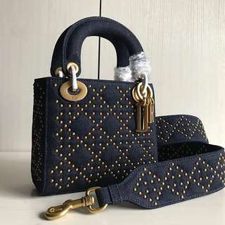 Dior Bag 最新牛仔布鉚釘