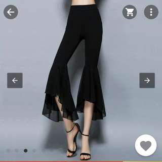 Fit and flare bell bottom pants